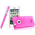IMAK Water Jade Shell Hard Cases Covers for iPhone 5S - Rose