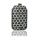Luxury Bling Holster Covers Leopard diamond Crystal Cases for iPhone 5S - Black