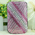 Luxury Bling Holster Covers diamond Crystal Leather Cases for iPhone 5S - Pink