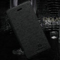 Nillkin England Retro Leather Case Covers for iPhone 5S - Black