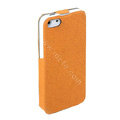 ROCK Eternal Series Flip leather Cases Holster Covers for iPhone 5S - Orange