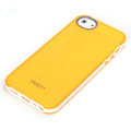 ROCK Joyful free Series Leather Cases Holster Covers for iPhone 5S - Yellow