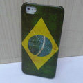 Retro Brazil flag Hard Back Cases Covers Skin for iPhone 5S