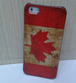 Retro Canada flag Hard Back Cases Covers Skin for iPhone 5S