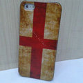 Retro England flag Hard Back Cases Covers Skin for iPhone 5S