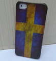 Retro Sweden flag Hard Back Cases Covers Skin for iPhone 5S