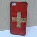 Retro Swiss Confederation flag Hard Back Cases Covers Skin for iPhone 5S