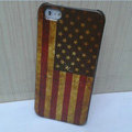 Retro USA American flag Hard Back Cases Covers Skin for iPhone 5S