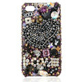 S-warovski Bling crystal Cases Love Luxury diamond covers for iPhone 5S - Black