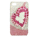 S-warovski Bling crystal Cases Love Luxury diamond covers for iPhone 5S - Pink