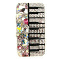 S-warovski Bling crystal Cases Piano Luxury diamond covers for iPhone 5S - White