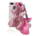 S-warovski Bling crystal Cases Pony Horse Luxury diamond covers for iPhone 5S - Pink