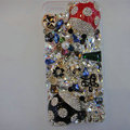 S-warovski crystal cases Bling Beetle diamond cover for iPhone 5S - Black+Red