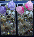 S-warovski crystal cases Bling Bowknot diamond cover for iPhone 5S - Pink
