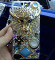 S-warovski crystal cases Bling Cow diamond cover for iPhone 5S - Gold