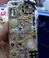 S-warovski crystal cases Bling Dragon diamond cover for iPhone 5S - White