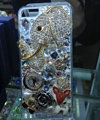 S-warovski crystal cases Bling Elephant diamond cover for iPhone 5S - White