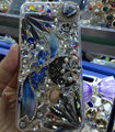 S-warovski crystal cases Bling Flowers diamond cover skin for iPhone 5S - White