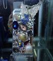 S-warovski crystal cases Bling Fox diamond cover for iPhone 5S - Blue