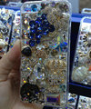 S-warovski crystal cases Bling Grapes diamond cover for iPhone 5S - Blue