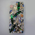 S-warovski crystal cases Bling Panda diamond cover for iPhone 5S - Green