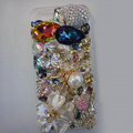 S-warovski crystal cases Bling Spider diamond cover for iPhone 5S - White