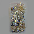 S-warovski crystal cases Bling Swan diamond cover for iPhone 5S - White
