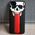 Skull 3D Tongue Hard Back Cases With Stand Covers for iPhone 5S - Black
