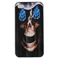 Skull Hard Back Cases Covers Skin for iPhone 5S - Black EB004
