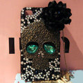 Skull diamond Crystal Cases Bling Hard Covers Skin for iPhone 5S - Black