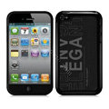 Slim Metal Aluminum Silicone Cases Covers for iPhone 5S - Black