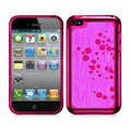 Slim Metal Aluminum Silicone Cases Covers for iPhone 5S - Rose