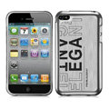 Slim Metal Aluminum Silicone Cases Covers for iPhone 5S - Silver