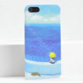 Ultrathin Matte Cases Sea girl Hard Back Covers for iPhone 5S - Blue