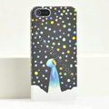 Ultrathin Matte Cases Snow girl Hard Back Covers for iPhone 5S - Black