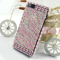 Zebra diamond Crystal Cases Bling Hard Covers for iPhone 5S - Pink