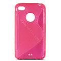s-mak translucent double color cases covers for iPhone 5S - Red