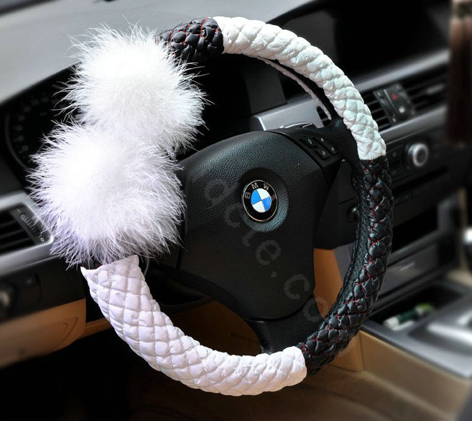 Buy Wholesale Auto Car Steering Wheel Cover Fur Ball