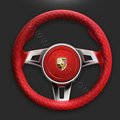 Auto Car Steering Wheel Cover Imitation sheepskin Diameter 15 inch 38CM - Red