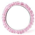 Auto Car Steering Wheel Cover Lace Polyester Diameter 15 inch 38CM - Pink