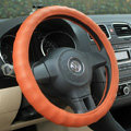 Auto Car Steering Wheel Cover PU leather Diameter 15 inch 38CM - Orange