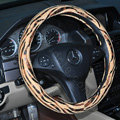 Auto Car Steering Wheel Cover Zebra Velvet Splice Diameter 15 inch 38CM - Brown