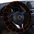 Yle Auto Car Steering Wheel Cover Cashmere Diameter 15 inch 38CM - Brown