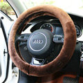Yle Auto Car Steering Wheel Cover Faux Mink hair Diameter 15 inch 38CM - Brown