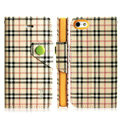 IMAK Flip leather case plaid pattern book Holster cover for Apple iPhone 5S - Yellow