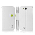 IMAK R64 Flip leather Case support Holster Cover for ThL W8 - White
