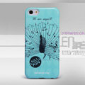 Nillkin Peacock Drawing Color Cover Hard Case Skin for Apple iPhone 5C - Blue