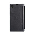 Nillkin Stylish Flip leather Case Holster Cover Skin for Sony Ericsson XL39H Xperia Z Ultra - Black
