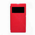 Nillkin Stylish Flip leather Case Holster Cover Skin for Sony Ericsson XL39H Xperia Z Ultra - Red