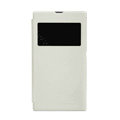 Nillkin Stylish Flip leather Case Holster Cover Skin for Sony Ericsson XL39H Xperia Z Ultra - White